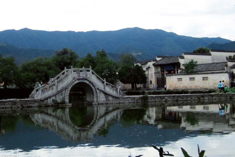 安徽宏村风景速写临摹