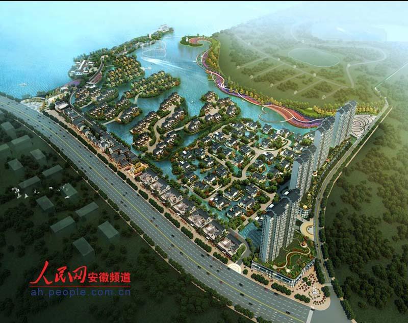 洪庄文化创意产业园鸟瞰图(效果图)