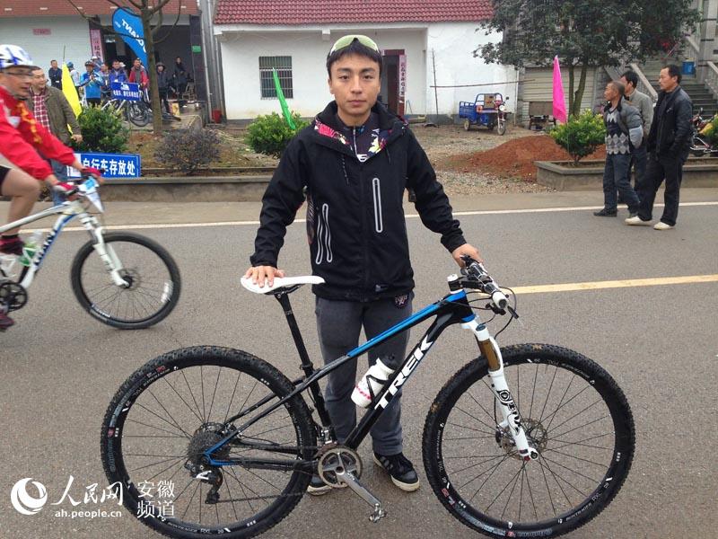 安徽广德举办自行车赛 惊现7万元天价自行车
