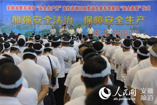 安徽省安全生产月宣传咨询日今在芜湖举行