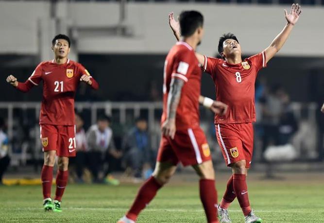 2018世界杯预选赛 中国男足2:0胜卡塔尔