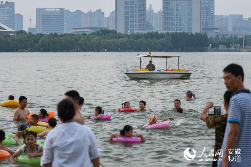 高温下,沸腾的安徽天鹅湖--合肥频道--人民网耳朵兔子教成打发图片