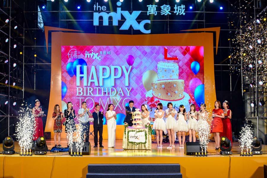 shn48女团空降合肥华润万象城周年庆音乐节