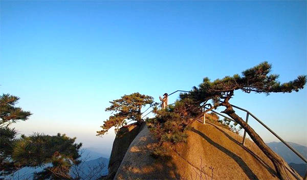 妙道山简介: 妙道山风景区位于大别山腹地的岳西县境内,距离县城40公里。总面积近3000公顷,主峰海拔1462米,森林覆盖率高达98%,于1992年9月由原国家林业部批准为国家级森林公园。妙道山风景区分为聚云峰、祖师峰、紫柳园、南溪园、小河南五大景区,现已开发景点110多处。 妙道山自然景观集雄、险、奇、秀于一体,汇林、瀑、峡、洞为一处。石狮哮月、仙憩遗踪、妙笔生花、祖师古洞等,林海茫茫,鸟音悠悠,令人拍案叫绝;天女织锦、水榭楼台、水龙吟瀑、日月同辉、玉杯潭等,峡谷幽深,溪流潺潺,蔚为壮观。区内四季分明