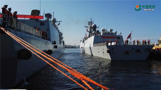 中俄&quot海上联合—2017&quot第二阶段演习兵力集结完毕