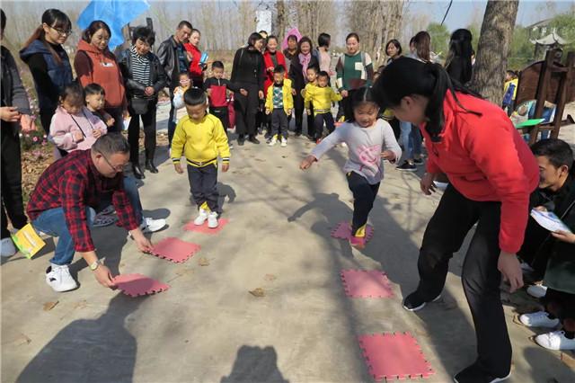 长丰县直属机关幼儿园开展秋季户外亲子拓展活动