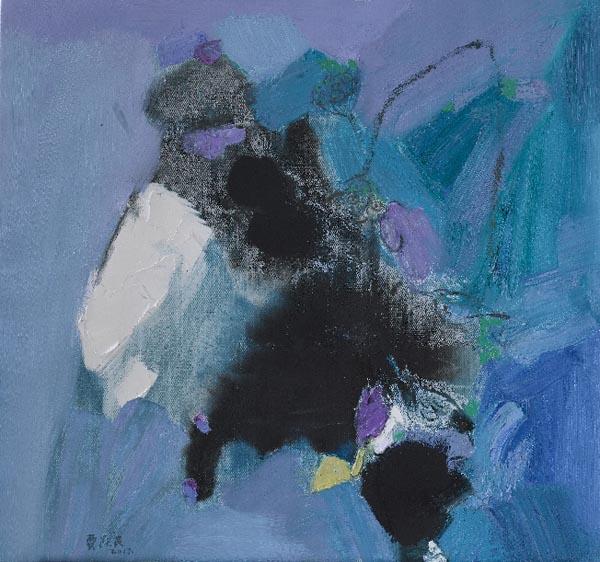 贾跃民的诗意艺术意象油画作品展在合肥展出