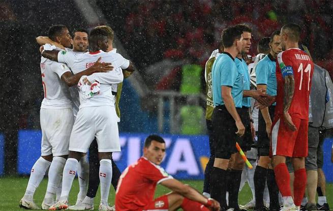 瑞士队2比1胜塞尔维亚队