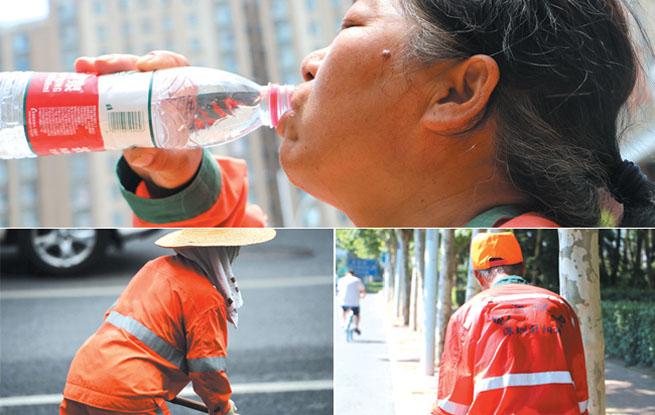 环卫工人用一身大汗 换来城市的整洁和清爽