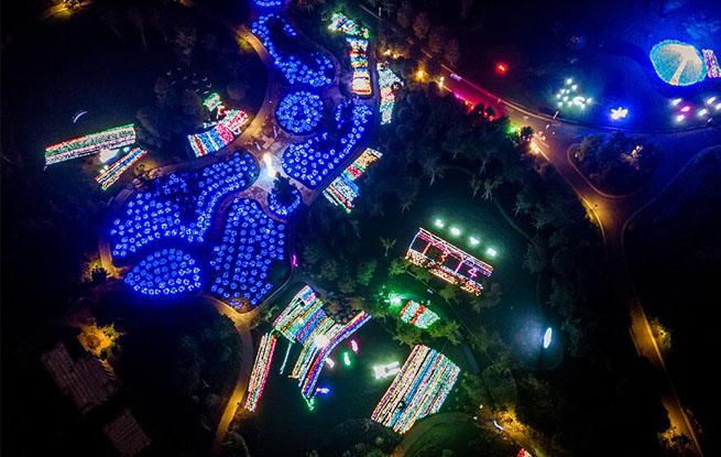2018滁州花博园游园灯会正式迎客