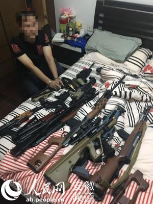 合肥破获重大买卖枪支案缴枪60支子弹千余发