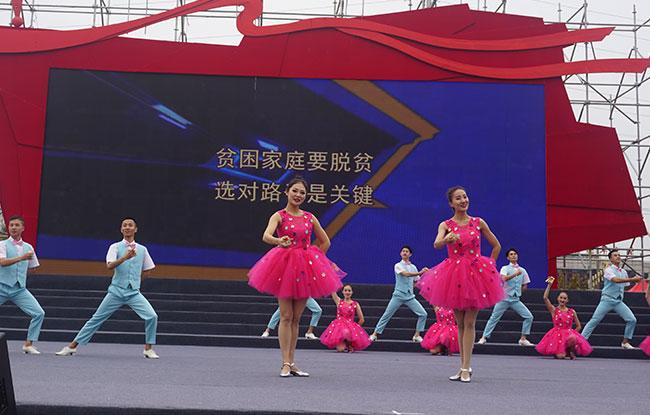 """""""文艺扶贫 携手小康""""惠民演出走进涡阳"""