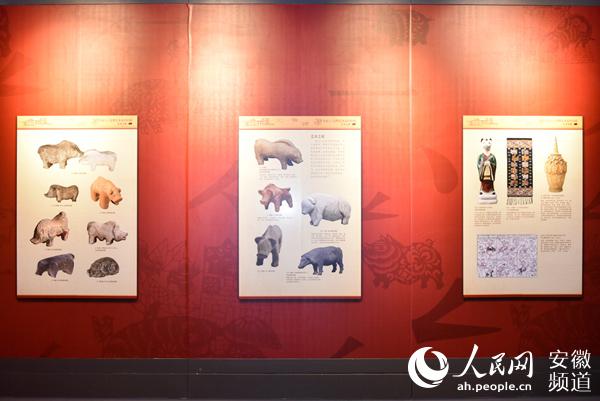 """""""金猪拱福――己亥新春生肖文物图片联展""""在安徽博物院展出"""