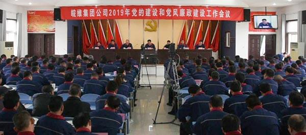 皖维集团党委召开2019年党的建设和党风廉政建设会议