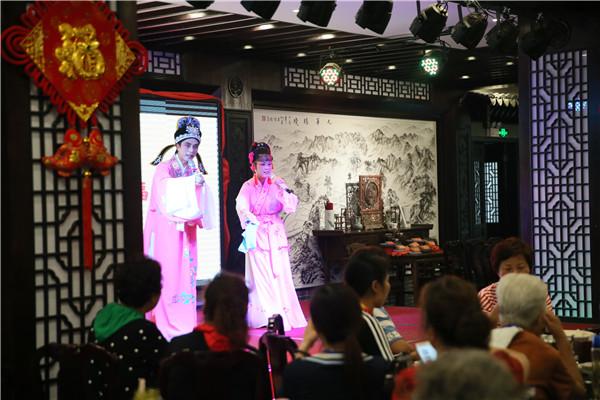 安徽池州:景区餐厅引入黄梅戏顾客听曲儿佐餐