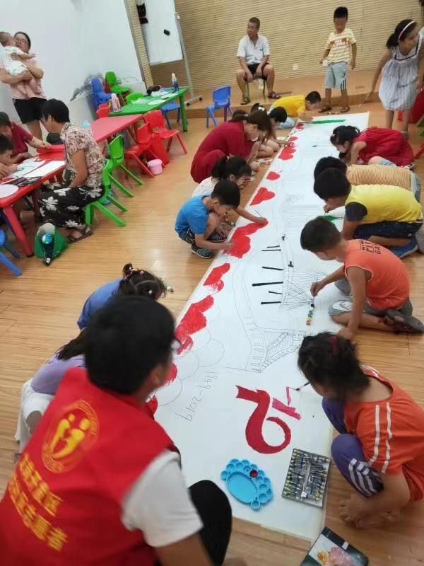 合肥瑶海区琥珀社区开展亲子绘画活动