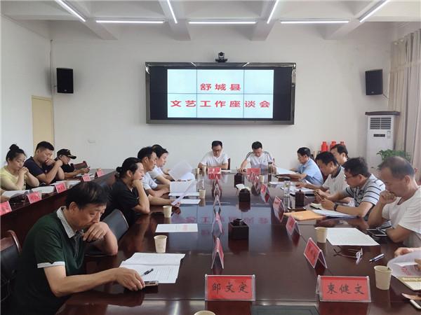 安徽舒城县召开文艺工作座谈会