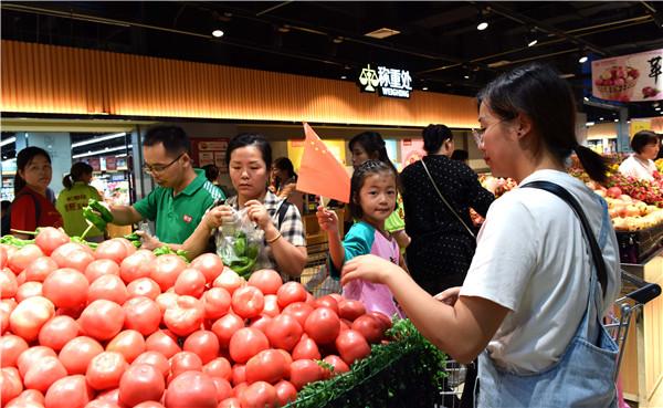 安徽庐江:蔬菜市场货源充足价廉