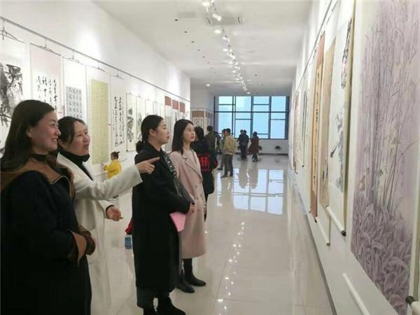 利辛县书法美术大赛作品展开展