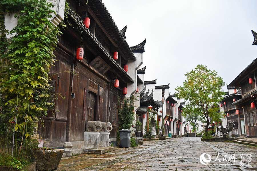 集民俗文化、古镇原貌、乡村休闲为一体的犁桥老街。周坤摄