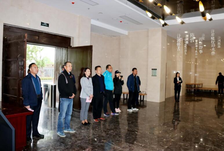 中国大运河划船拉力赛组委会到泗县考察