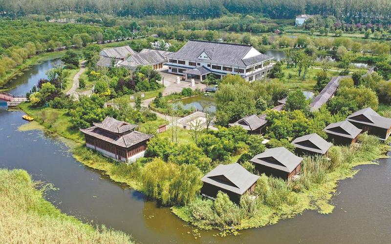 利辛�h西(xi)淝河(he)��家�竦毓�(gong)�@(yuan)美景如��